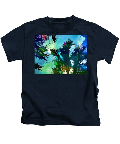 Tree Spirit Abstract Digital Painting Kids T-Shirt