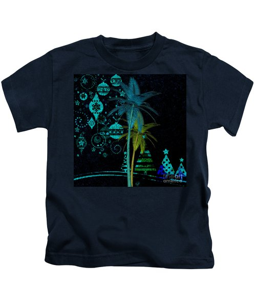 Tropical Holiday Blue Kids T-Shirt