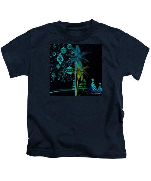Tropical Holiday Blue Kids T-Shirt