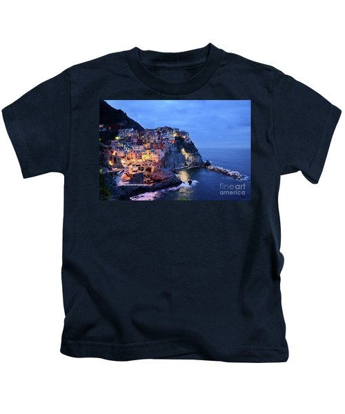 Tuscany Like Amalfi Cinque Terre Evening Lights Kids T-Shirt