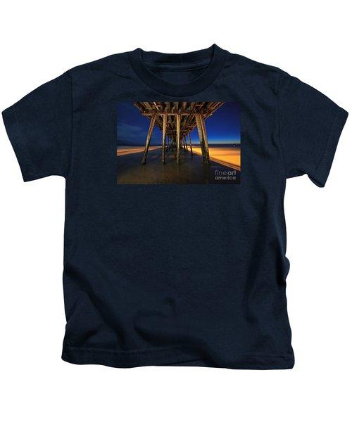 Twilight Under The Imperial Beach Pier San Diego California Kids T-Shirt