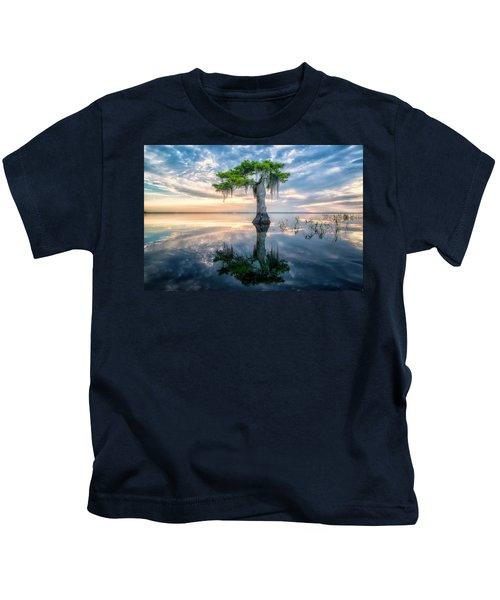 Twisted Cypress Mirror Kids T-Shirt