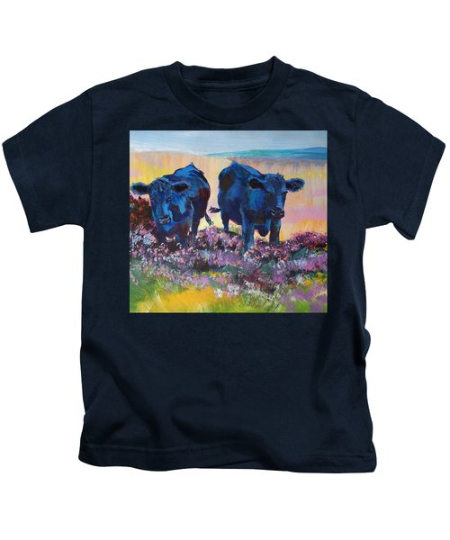 Two Black Cows On Dartmoor Kids T-Shirt
