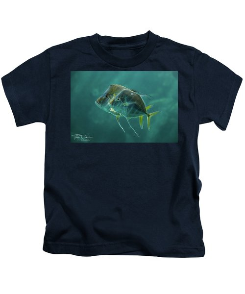 Two In Turquoise Kids T-Shirt