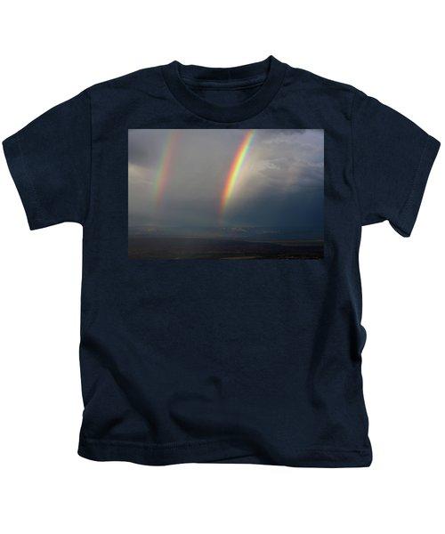 Two Rainbows Kids T-Shirt