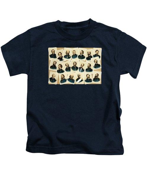 Union Commanders Of The Civil War Kids T-Shirt