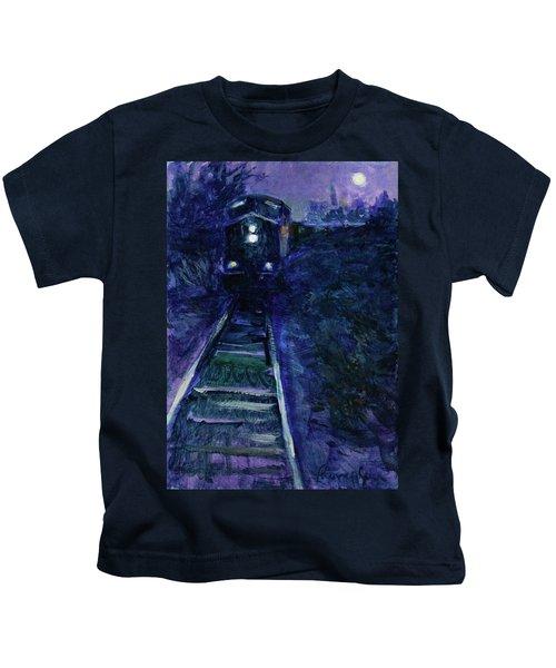 Union Pacific At Night Kids T-Shirt