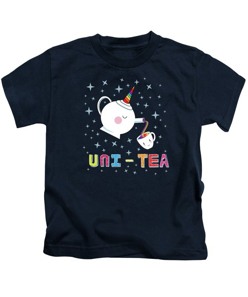 Unitea  Cute Unity Rainbow Tea Pot And Cup Kids T-Shirt