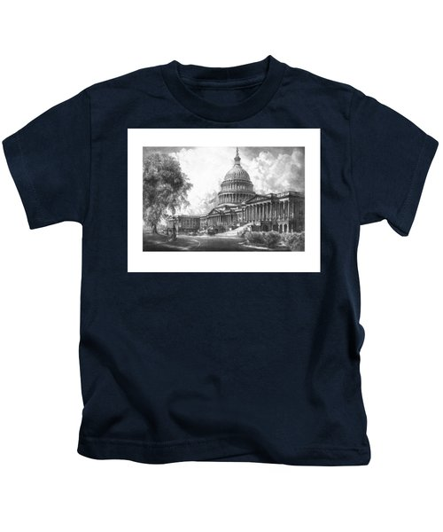 United States Capitol Building Kids T-Shirt