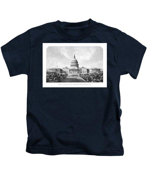 Us Capitol Building - Washington Dc Kids T-Shirt