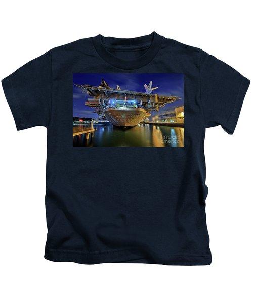Uss Midway Aircraft Carrier  Kids T-Shirt