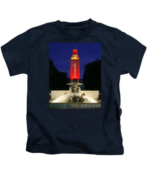 Ut Austin Tower Orange Kids T-Shirt