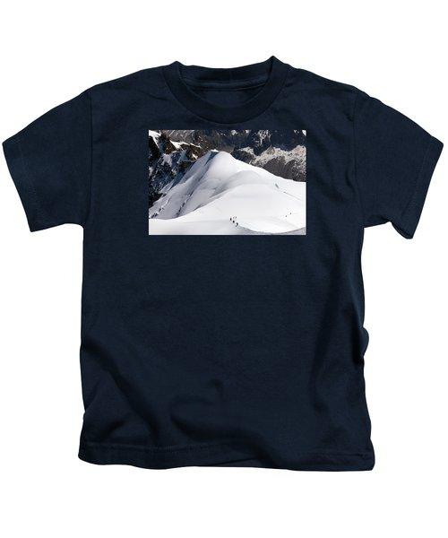 View From Aiguille Du Midi Kids T-Shirt