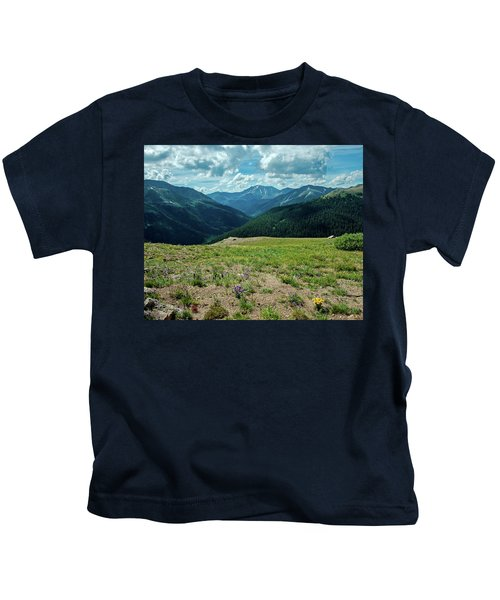 View From Independence Pass Kids T-Shirt