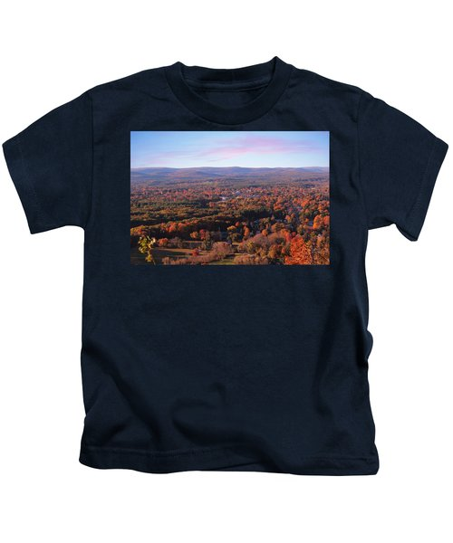 View From Mount Tom In Easthampton, Ma Kids T-Shirt