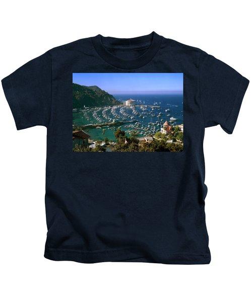 View Of Avalon Harbor Kids T-Shirt