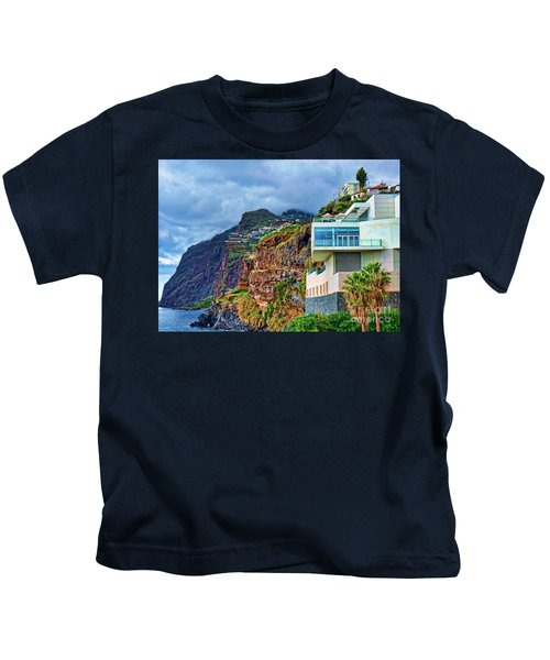 Viewpoint Over Camara De Lobos Madeira Portugal Kids T-Shirt