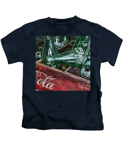 Vintage Coke Square Format Kids T-Shirt