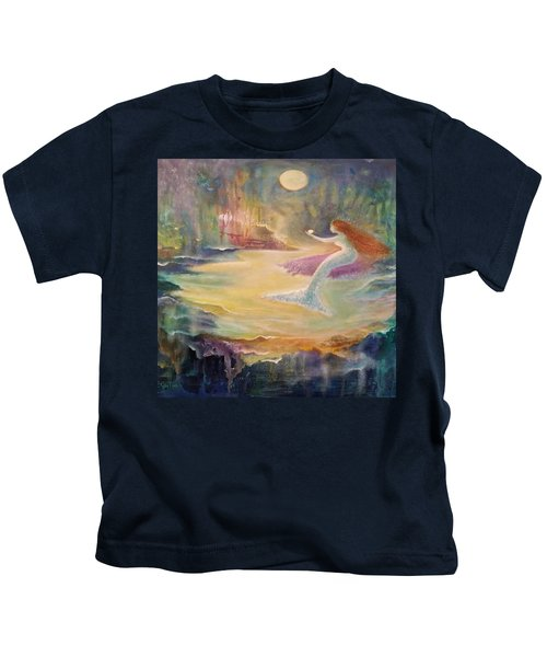 Vintage Mermaid Kids T-Shirt by Lily Nava