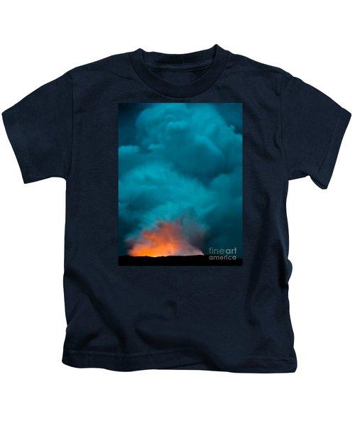 Volcano Smoke And Fire Kids T-Shirt