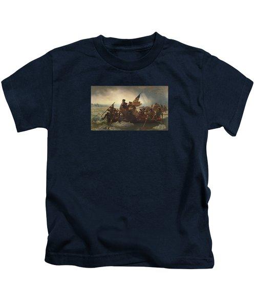 Washington Crossing The Delaware Painting  Kids T-Shirt