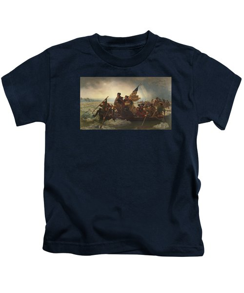 Washington Crossing The Delaware Painting  Kids T-Shirt