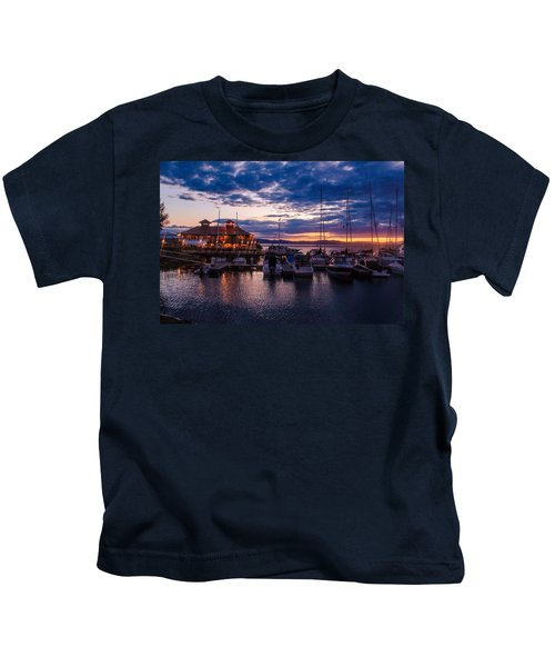 Waterfront Summer Sunset Kids T-Shirt