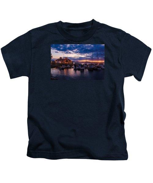 Waterfront Summer Sunset Kids T-Shirt