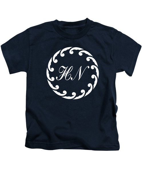 Wave Ring And Cipher In White Kids T-Shirt