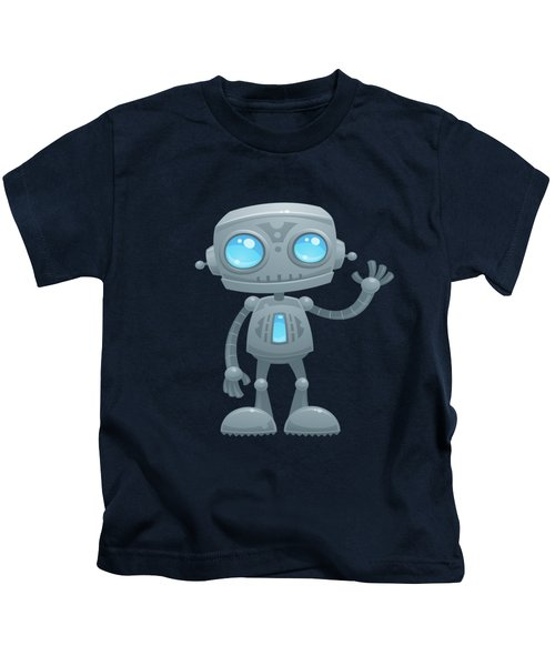 Waving Robot Kids T-Shirt