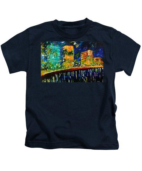 West Palm At Night Kids T-Shirt