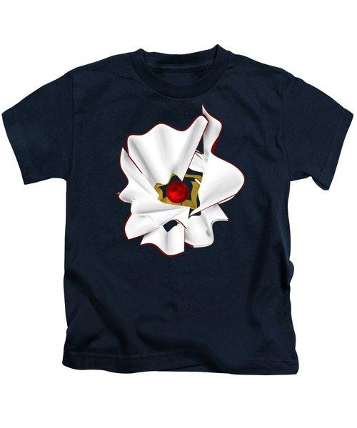 White Abstract Flower Kids T-Shirt