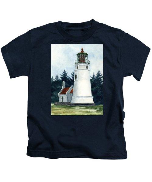 Winchester Bay Lighthouse Kids T-Shirt