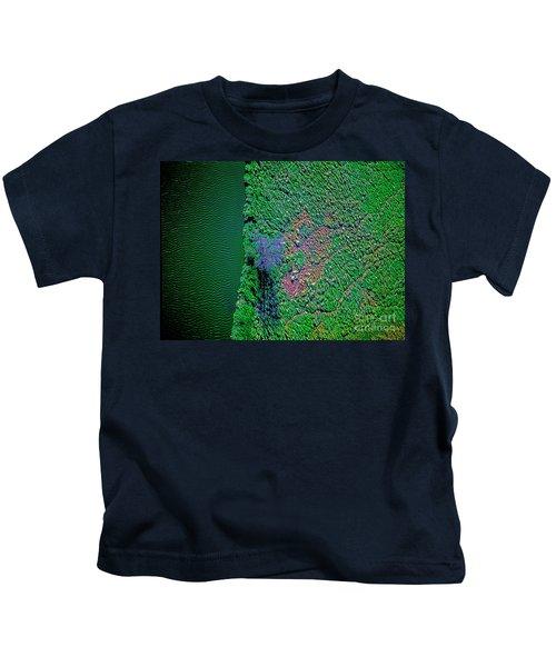 Wind Blown Marsh Tree And Water Kids T-Shirt