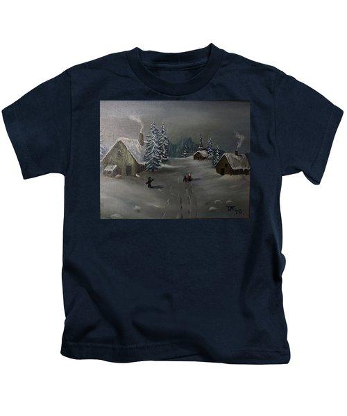 Winter In A German Village Kids T-Shirt