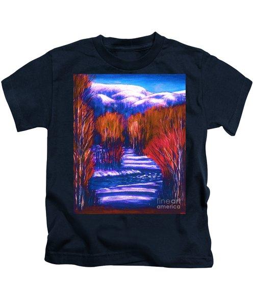Winter Shadows  Kids T-Shirt