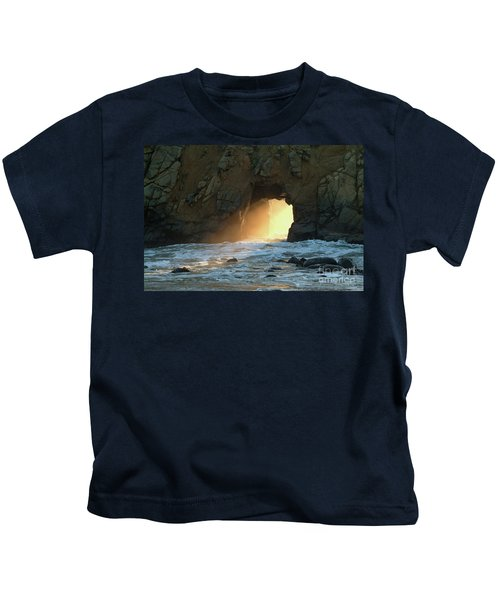 Winter Solstice Sunset In Big Sur Kids T-Shirt