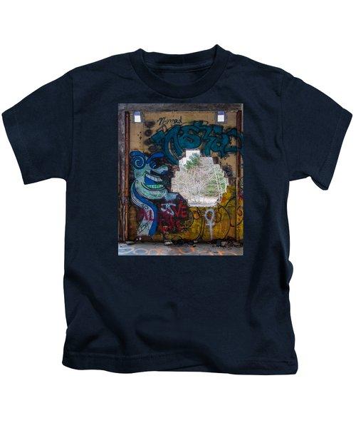 Wompatuck Graffiti Man Kids T-Shirt