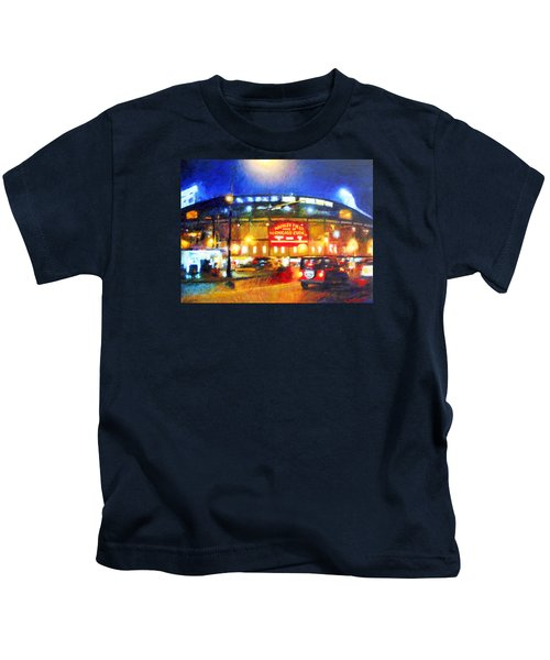 Wrigley Field Home Of Chicago Cubs Kids T-Shirt