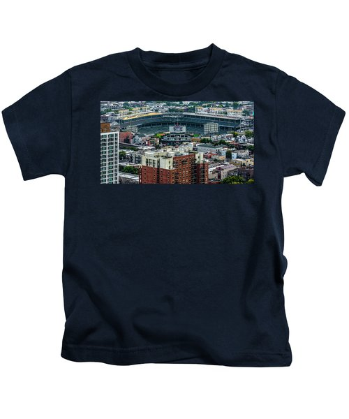 Wrigley Field Park Place Towers During The Day Dsc4743 Kids T-Shirt by Raymond Kunst