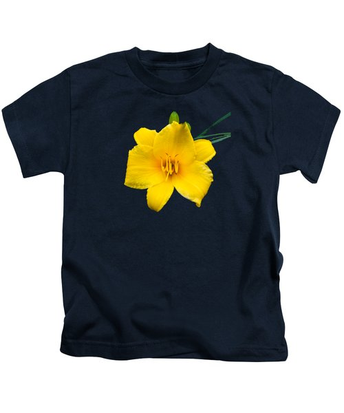 Yellow Daylily Flower Kids T-Shirt
