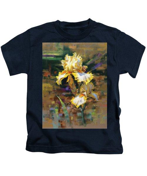 Yellow Iris II Kids T-Shirt