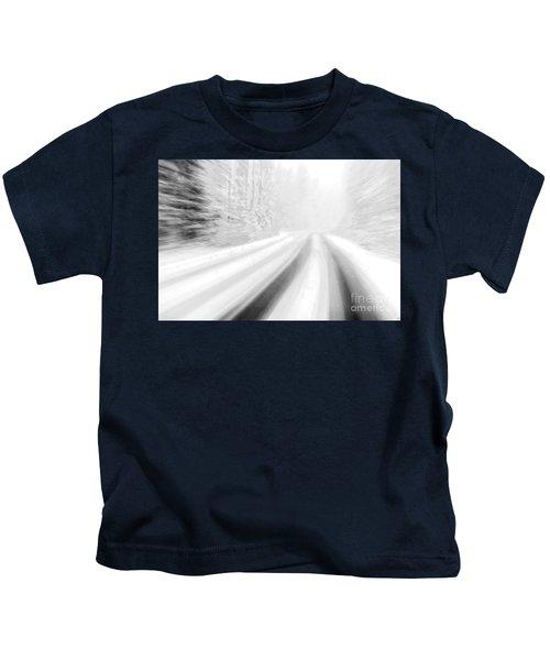 Yellowstone Summer Snow Kids T-Shirt