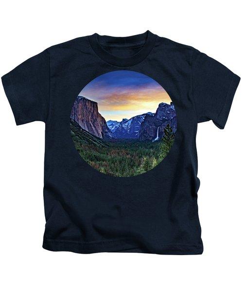 Yosemite Sunrise Kids T-Shirt by Adam Morsa