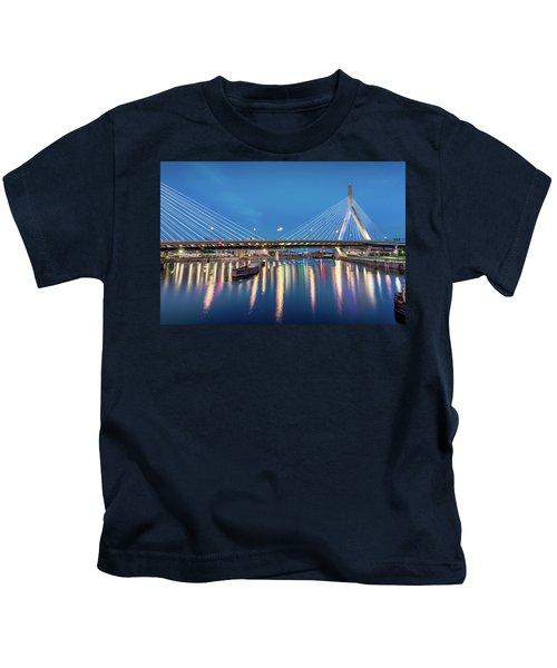 Zakim Bridge And Charles River At Dawn Kids T-Shirt