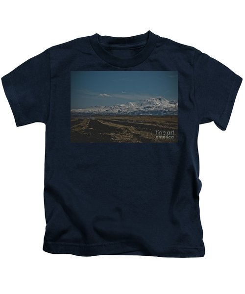 Snow-covered Mountains In The Turkish Region Of Capaddocia. Kids T-Shirt
