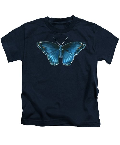 113 Brenton Blue Butterfly Kids T-Shirt