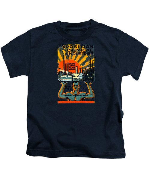 1917 Nyc Chemical Expo Poster Kids T-Shirt