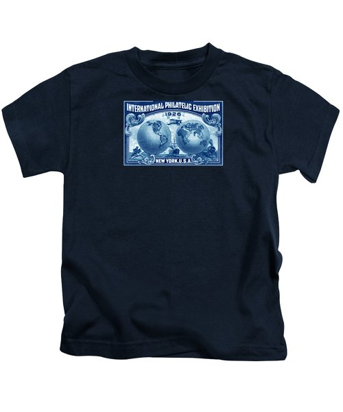 1926 New York International Philatelic Exhibit Kids T-Shirt