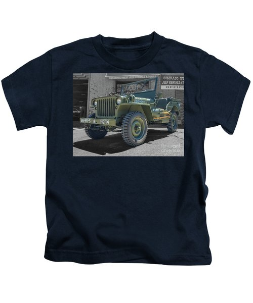 1942 Willys Gpw Kids T-Shirt